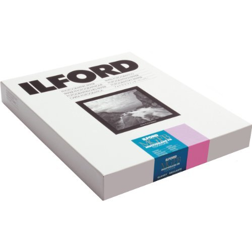 Ilford MGFBCT1K Multigrade FB Cooltone Fiber Based Variable Contrast, Doubleweight Black & White Enlarging Paper 11x14'', 50 Sheets, Glossy - for Printing from Conventional Negatives.