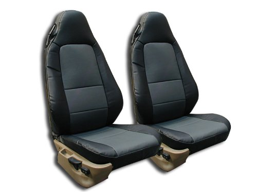 - BMW Z3 (Not M Series) Black/Charcoal Artificial leather Custom fit Front seat cover