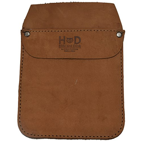 Durable Leather Work Pocket Organizer for Tools/Pens, Office & Work Essentials Handmade by Hide & Drink :: Toffee Suede by Hide & Drink (Image #1)