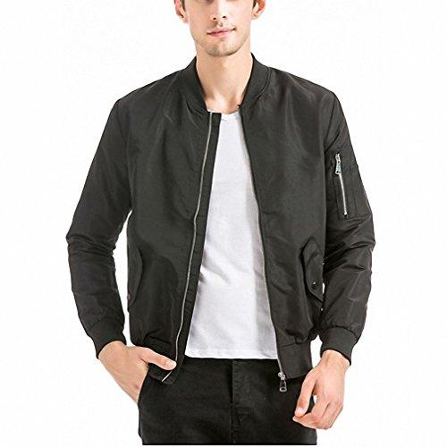 Pilot Costume Bomber Jacket (bomber jackets men pilot Slim coat male casual Autumn Zipper Green Blue Black)