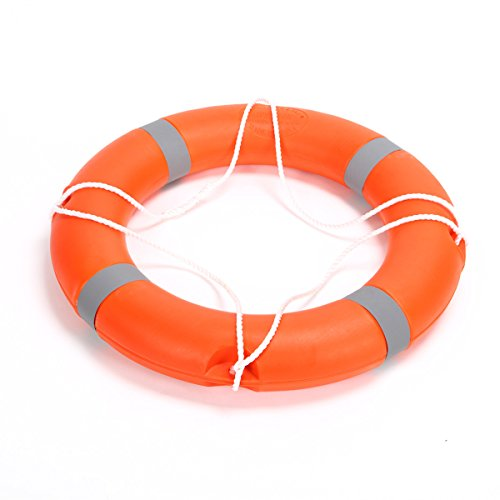 BeautySu. 28'' Diameter Professional Adult Foam Swim Ring Buoy Orange Lifering with White Bands by BeautySu. (Image #3)