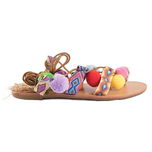 Primtex - Sandalias de vestir para mujer Multicolor