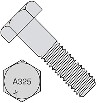 A325 Type 1 Plain Finish 90 PK 7L 1-8 Steel Structural Bolt with Nut