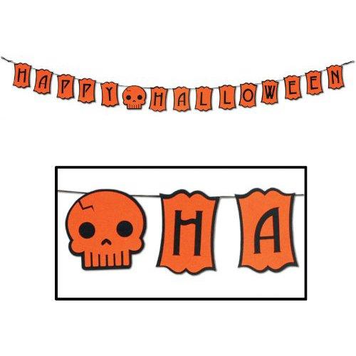 Beistle Felt Happy Halloween Streamer, 5-Inch by 6-Feet ()