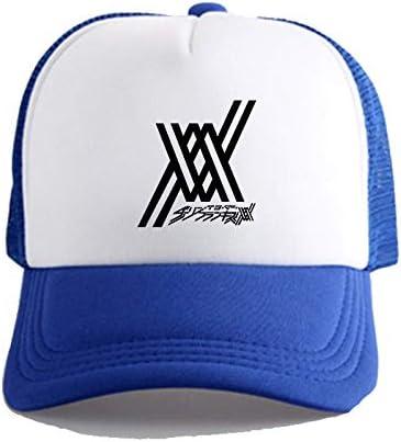 Darling en el modelo del logotipo FRANXX animado gorra de béisbol unisex, ocasional con estilo transpirable sombrero, sombrero de la pesca Net Cap caballo Senderismo Sombrero, Hip Hop Visera Cap Monta