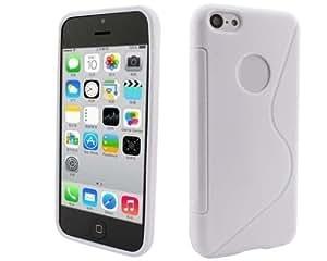 BONAMART ® Lechoso S-Line Con Agujeros Carcasa Caso Funda TPU Silicona Case Cover Para Apple iPhone 5C