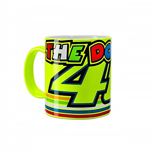 Valentino Rossi VR46 Moto GP The Doctor Stripes Yellow Mug Official ()
