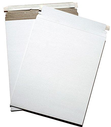 AmeriCopy 6 X 6 Inch White Cardboard CD DVD Mailer W/ Flap & Seal (25 Pack) (White)