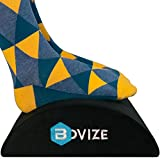 Foot Rest Cushion for Home and Office, Soft Yet Firm Foam Cushion Footrest Under Desk Foot Stool Ergonomic Back Pillow for Office Accessories - Bovize ... (Black)