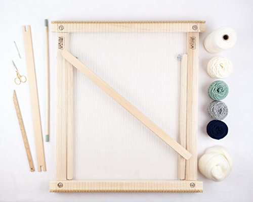 Beka FRAME LOOM WITH STAND WEAVING KIT - MOSS/NAVY - THE DELUXE! 4336906398