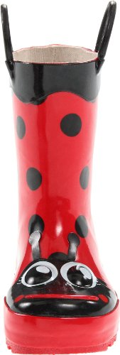 Western Chief Girls Waterproof Printed Rain Boot with Easy Pull on Handles, Lucy the Ladybug, 11 M US Little Kid by Western Chief (Image #4)