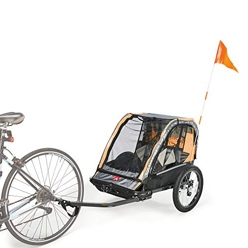 Allen Sports Deluxe Steel 2-Child Bicycle Trailer and Stroller, Model AS2-O ()