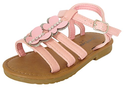 7cbaddf0553fa Galleon -  Bebe Toddler Girls   Rhinestone Butterfly Light Pink Sandals