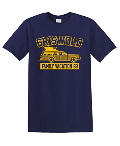 (GRISWOLD FAMILY VACATION - 80s funny movie Unisex Tee Shirt T-Shirt, M, Navy)