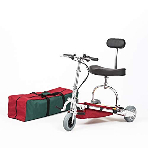 TravelScoot Mobility Scooter Lightweight 34 lbs Ultra Portable Airline-Approved (350 lb. Weight Limit) 2-Year Warranty