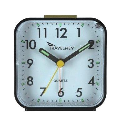Travelwey Analog Alarm Clock, No Ticking, Alarm, Snooze, Light