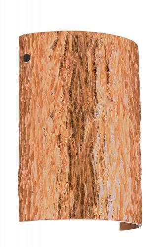 (Besa Lighting 7090CF-BK 1X75W A19 Tamburo 8 Wall Sconce with Stone Copper Foil Glass, Black Finish)