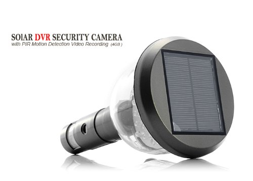 BW Solar DVR Security Camera with PIR Motion Detection Video Recording - Black