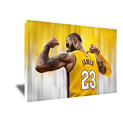 a8a7995a1e79 Image Unavailable. Image not available for. Color  King of LA Lebron James  Canvas Painting ...