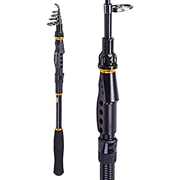 Sougayilang Graphite Carbon Fiber Portable Spinning Telescopic Fishing Rod for Boat Saltwater and Freshwater