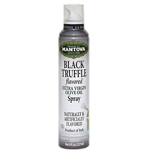 Mantova Extra Virgin Olive Oil Spray Truffle Flavored 8 oz. Spray Bottle - Manage Oil Amount - Great For Salads & Cooking