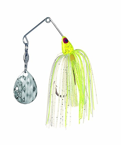 Strike King MK-104G Mini-KingSpinnerbait, 1/8 -Ounce, Chartreuse (Ounce 0.125 Chartreuse Head)