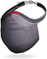 Máscara Fiber Knit Sport + Filtro de Proteção + Suporte (Cinza, G)