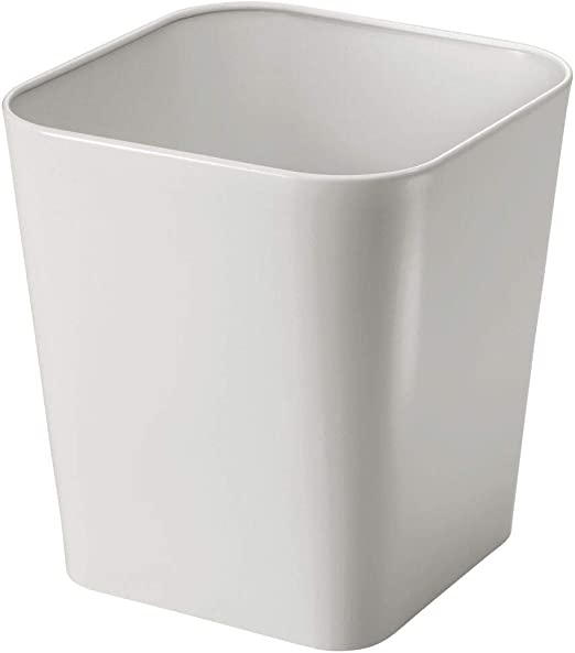 mDesign Cubo de basura de metal – Caja para cosméticos cuadrada con diseño elegante – Papelera metálica para cuartos pequeños – Estable contenedor de reciclaje, también para la cocina – gris claro: Amazon.es: Hogar