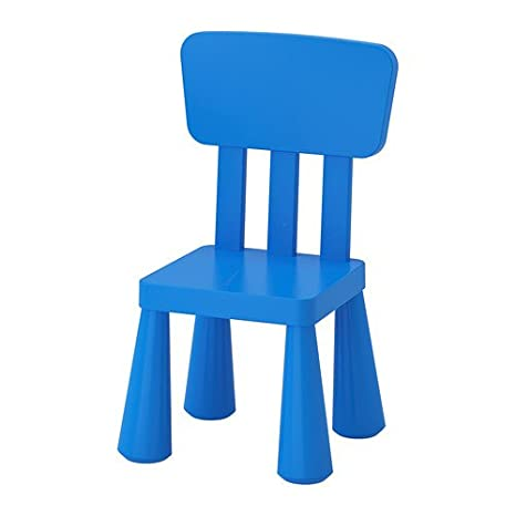 "Ikea – Silla infantil ""Mammut Niños Muebles Silla en azul de plástico unbedenklichem"