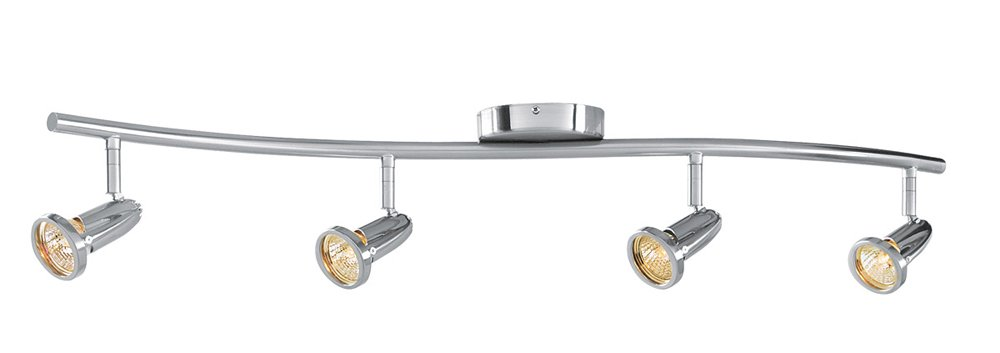 Cobra - 4-Light Spotlight Flush Mount - Brushed Steel Finish