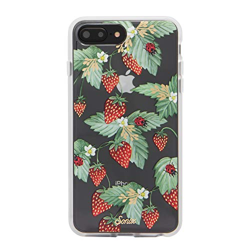 Sonix, Fraise, (Strawberry Fruit) Cell Phone Case [Military Drop Test Certified] Protective Clear Case for Apple iPhone 6 Plus, iPhone 7 Plus, iPhone 8 - Case Cell Strawberry Phone