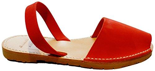 BEIGE couleurs Sandales Rojo différentes beige menorquinas BEIGE nobuck SOUL authentiques minorquines suela SUELA Avarcas q00wU6rt