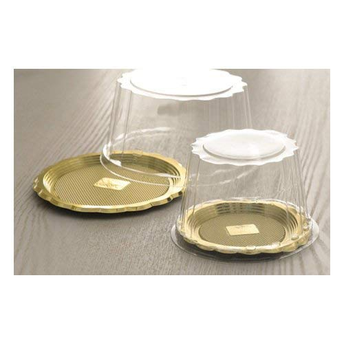 Alcas Clear Plastic Tall Dome Lid for Medoro Tray 014/1, 50 Pieces