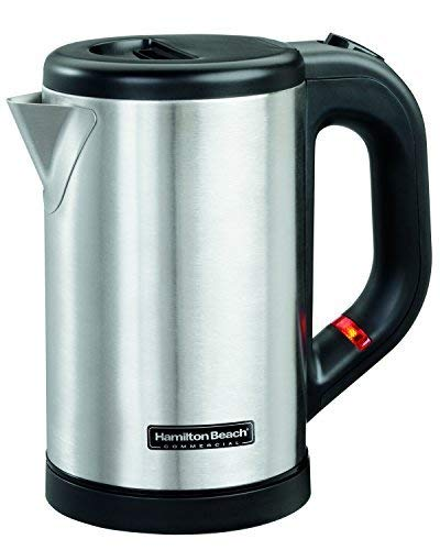 Hamilton Beach® Commercial Hospitality 0.5 Liter Stainless Steel Electric Hot Water Tea Kettle HKE050 ()