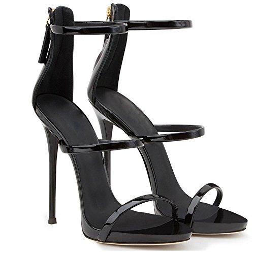 Street con Summer GAOLIXIA tacco da Candy piede Sandali con Sandali Scarpe Colors fibbia alto Fascia Black Simple donna da Stilettos TZZqBPUw