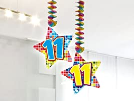 54 Set de decoración de fiesta Set * Número 11 * Cumpleaños ...