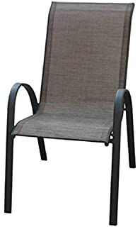 COURTYARD CREATIONS KTS666HN Four Seasons Verona Sling Stacking Chair, Brown