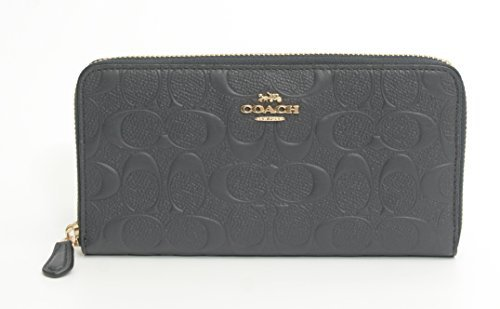 Accordion Wallet Purse (COACH SIGNATURE EMBOSSED ACCORDION WALLET ZIP)