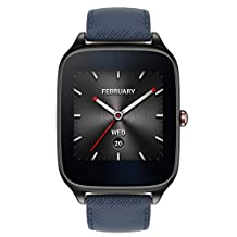 ASUS ZenWatch 2 WI501Q 4GB IP67 Smartwatch - Gunmetal & Blue Leather Band