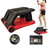 Holarose Aerobic Fitness Air Stepper Climber, Mini Stepper Exercise Fitness Thigh Machine with Resistant Band Cord & LCD Display, Home, Gym