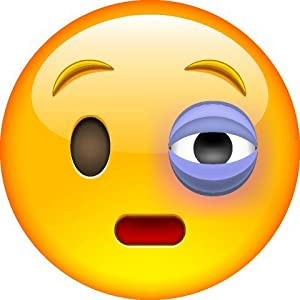 Image result for black eye emoji