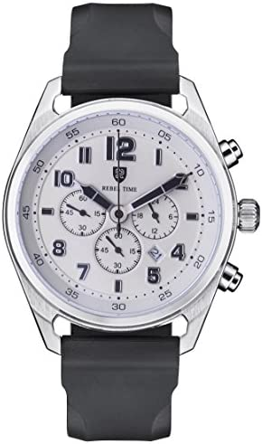 Rebel Men s Classic Stainless Steel Chronograph 100 Meter WR Field Watch