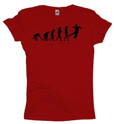 Ma2ca - Evolution - Handball - Damen Girlie T-Shirt -rot-s