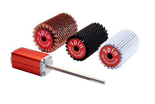 Tools4Boards Spin Bronze + Horsehair + Nylon Kit, Candy Apple Red, 115cm by Tools4Boards
