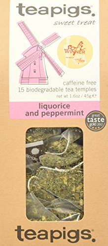 (Teapigs Liquorice & Peppermint - 15 Tea Temples(net wt 1.6 oz))