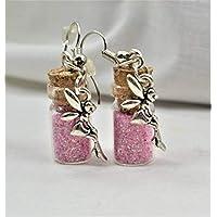 Pink Fairy Pixie Dust Earrings, Fairy Jewelry, Unique Earrings, Dangle Earrings, Drop Earrings, Boho Jewelry, Pink Earrings, Pixie Dust,