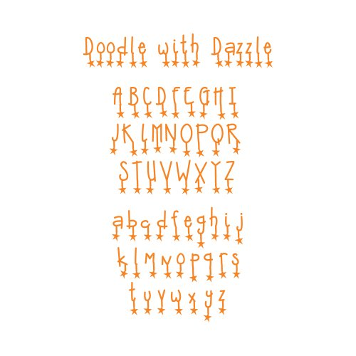 (Sizzix Sizzlits Alphabet Set 9 Dies - Doodle with Dazzle by Emily Humble)
