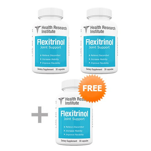 Flexitrinol Joint Support - 3 Bottles - #1 Joint Pain Supplement - Doctor Formulated Joint Relief Supplement