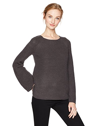 (NYDJ Women's Bell Sleeve Sweater, Vintage Pewter, Large)