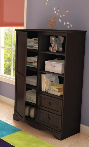 (Armoire With Drawers Espresso)